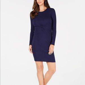 NWT Michael Kors Twisted Ribbed-Knit Dress M4